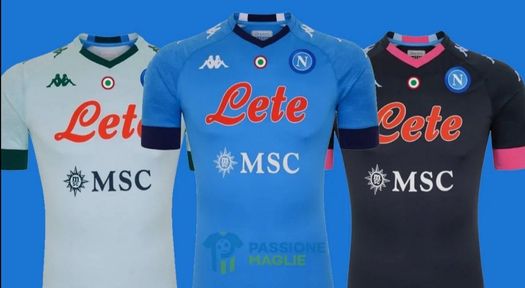 Nuove maglie del Napoli 2020-21 in anteprima